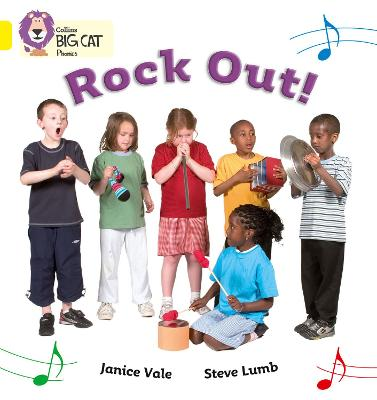 Rock Out Band 03/Yellow by Janice Vale