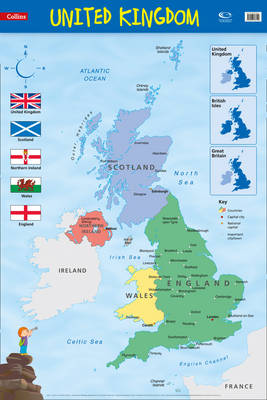 United Kingdom Wall Map by Collins Maps