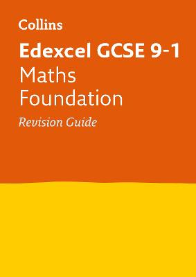 Edexcel GCSE Maths Foundation Revision Guide by Collins GCSE
