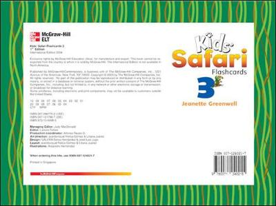 KIDS' SAFARI FLASHCARDS 3 by Jeanette Greenwell