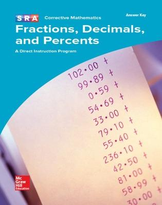 Corrective Mathematics Fractions, Decimals, and Percents, Additional Answer Key by McGraw-Hill Education