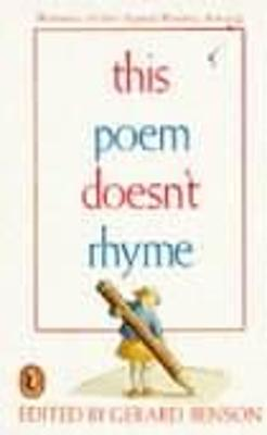This Poem Doesn't Rhyme by Gerard Benson