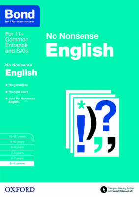 Bond: English: No Nonsense 5-6 years by Frances Orchard, Bond