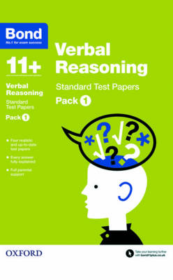 Bond 11+: Verbal Reasoning: Standard Test Papers Pack 1 by Frances Down, Bond