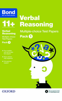Bond 11+: Verbal Reasoning: Multiple-choice Test Papers Pack 1 by Frances Down, Bond