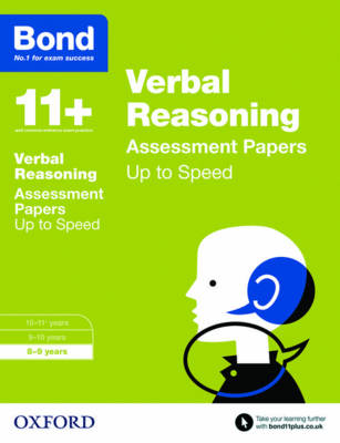 Bond 11+: Verbal Reasoning: Up to Speed Papers 8-9 years by Frances Down, Alison Primrose, Bond