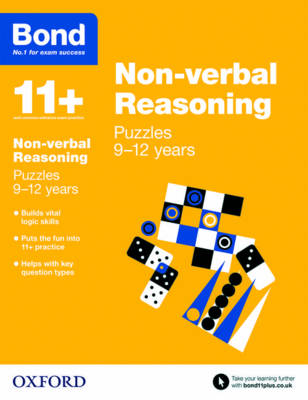 Bond 11+: Non-verbal Reasoning: Puzzles 9-12 years by Lynn Adams, Bond