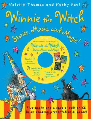 Winnie the Witch: Stories, Music, and Magic! with audio CD by Valerie Thomas