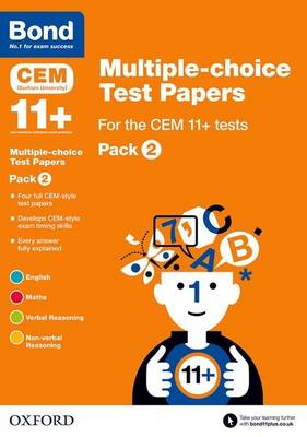 Bond 11+: Multiple-choice Test Papers for the CEM 11+ tests Pack 2 by Michellejoy Hughes, Bond