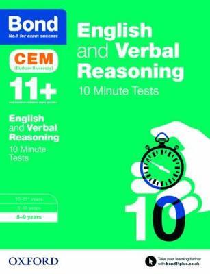 Bond 11+: English & Verbal Reasoning: CEM 10 Minute Tests 8-9 years by Michellejoy Hughes, Bond