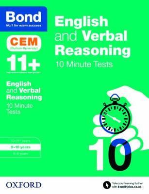 Bond 11+: English & Verbal Reasoning: CEM 10 Minute Tests 9-10 years by Michellejoy Hughes, Bond