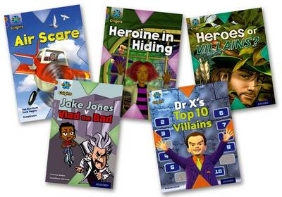 Project X Origins: Brown Book Band, Oxford Level 11: Heroes and Villains: Mixed Pack of 5 by Jan Burchett, Sara Vogler, Tony Bradman, Andrea Smith