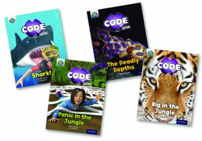 Project X CODE Extra: Green Book Band, Oxford Level 5: Jungle Trail and Shark Dive, Class pack of 12 by Janice Pimm, Jillian Powell, Kate Scott