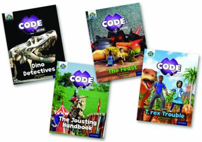 Project X CODE Extra: Turquoise Book Band, Oxford Level 7: Castle Kingdom and Forbidden Valley, Mixed Pack of 4 by Justin Richards, Ian MacDonald, Paul Mason