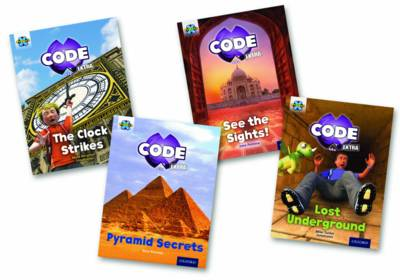 Project X CODE Extra: Purple Book Band, Oxford Level 8: Wonders of the World and Pyramid Peril, Mixed Pack of 4 by Mara Bergman, Jane Penrose, Mike Tucker