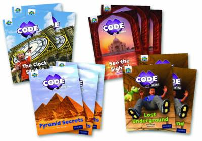 Project X CODE Extra: Purple Book Band, Oxford Level 8: Wonders of the World and Pyramid Peril, Class pack of 12 by Mara Bergman, Jane Penrose, Mike Tucker