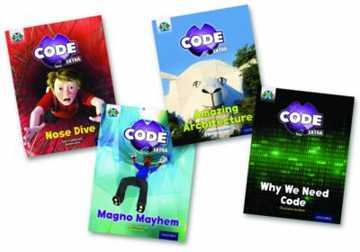 Project X CODE Extra: Gold Book Band, Oxford Level 9: Marvel Towers and CODE Control, Mixed Pack of 4 by Elen Caldecott, Charlotte Guillain