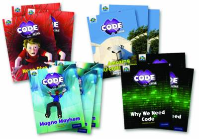 Project X CODE Extra: Gold Book Band, Oxford Level 9: Marvel Towers and CODE Control, Class pack of 12 by Elen Caldecott, Charlotte Guillain