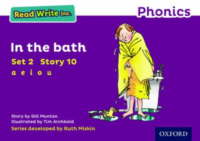 Read Write Inc. Phonics: Purple Set 2 Storybook 10 In the Bath by Gill Munton