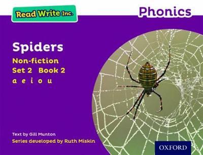 Read Write Inc. Phonics: Purple Set 2 Non-fiction 2 Spiders by Gill Munton