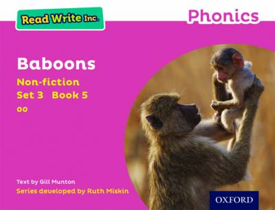 Read Write Inc. Phonics: Pink Set 3 Non-fiction 5 Baboons by Gill Munton