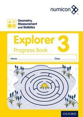 Numicon: Geometry, Measurement and Statistics 3 Explorer Progress Book by Sue Lowndes, Simon d'Angelo, Andrew Jeffrey, Elizabeth Gibbs