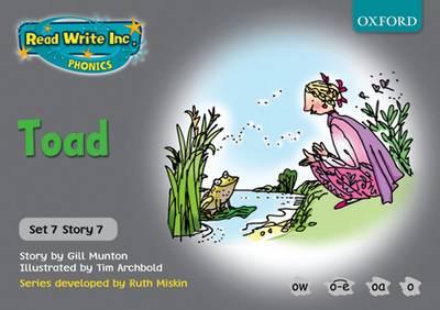 Read Write Inc. Phonics: Grey Set 7 Storybooks: Toad by Gill Munton