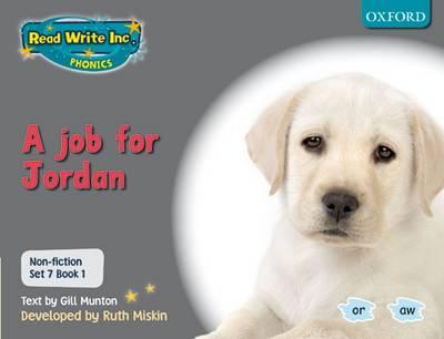 Read Write Inc. Phonics: Non-fiction Set 7 (Grey): A job for Jordan - Book 1 by Gill Munton, Ruth Miskin