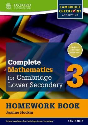 Complete Mathematics for Cambridge Secondary 1 Homework Book 3 (Pack of 15) For Cambridge Checkpoint and beyond by Joanne Hockin