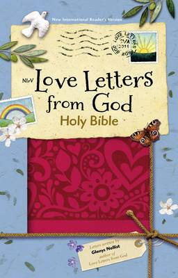 NIrV Love Letters from God Holy Bible, Imitation Leather, Magenta by Zondervan