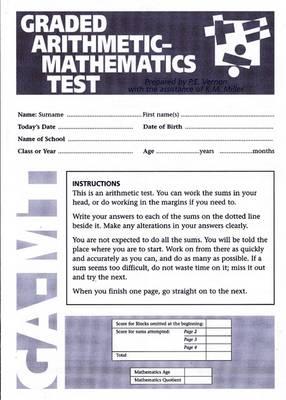 Graded Arithmetic-Mathematics Test by Ken Miller, Philip E. Vernon