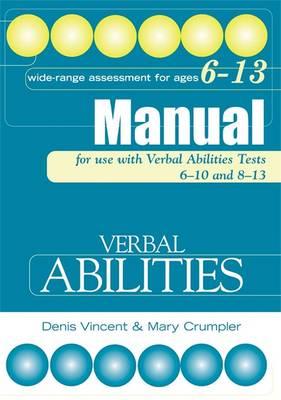 Verbal Abilities Tests Specimen Set by Denis Vincent, Mary Crumpler