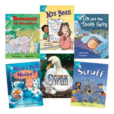 Learn at Home:Star Reading Turquoise Level Pack (5 fiction and 1 non-fiction book) by Jane Langford, Celia Warren, Sally Prue, Pat Moon