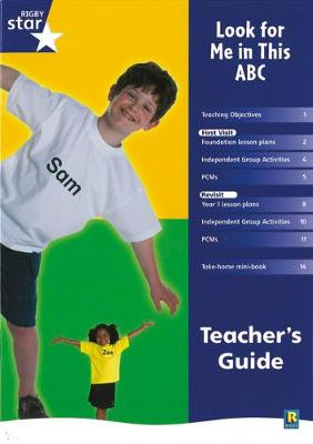 Rigby Star Shared Reception Non-Fiction: Look For Me In This ABC Teachers Guide by