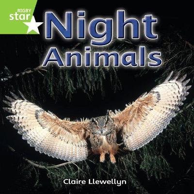 Rigby Star Independent Year 1 Green Non Fiction Night Animals Single by