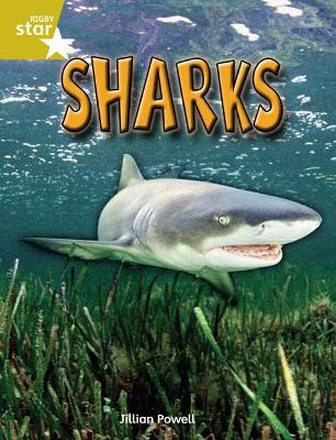 Rigby Star Independent Year 2 Gold Non Fiction Sharks Single by Jillian Powell