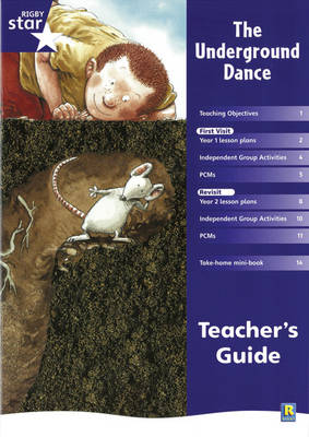 Rigby Star Shared Year 1 Fiction: Underground Dance Teachers Guide by
