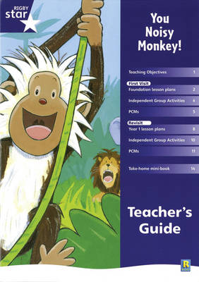 Rigby Star Shared Reception Fiction: You Noisy Monkey! Teacher's Guide by