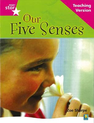 Rigby Star Non-fiction Guided Reading Pink Level: Our Five Senses Teaching Version by