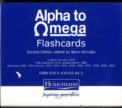 Alpha To Omega Flashcards by Beve Hornsby, Frula Shear, Julie Pool