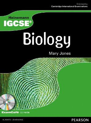 Heinemann IGCSE Biology Student Book with Exam Cafe CD by Mary Jones