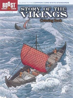 Story of the Vikings Coloring Book by Albert G. Smith