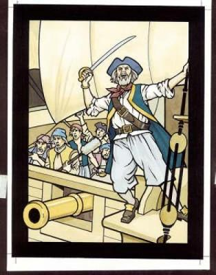 Pirates Stained Glass Coloring Book by John Green