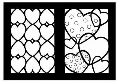 Hearts Stained Glass Coloring Book by Cathy Beylon