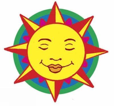 Shiny Sun, Moon and Stars Stickers by Anna Pomaska