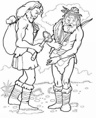 Prehistoric Man Coloring Book by Jan Sovak
