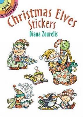 Christmas Elves Stickers by Diana Zourelias