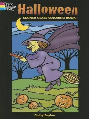 Halloween Stained Glass Coloring Book by Cathy Beylon