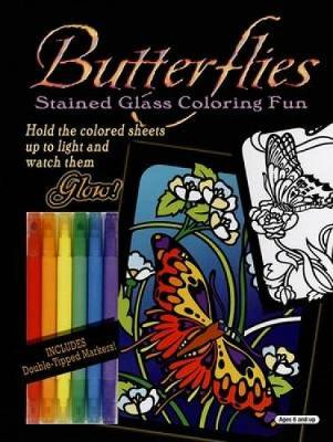 Butterflies Stained Glass Coloring Fun by Ed, Jr. Sibbett