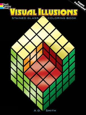 Visual Illusions Stained Glass Coloring Book by Albert G. Smith